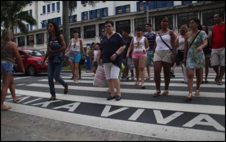 """Faixa Viva"" in Santos, São Paulo. (Credit: Ronalda Andrade/PMS)"