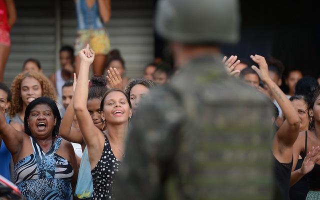 Protesters in Espirito Santo